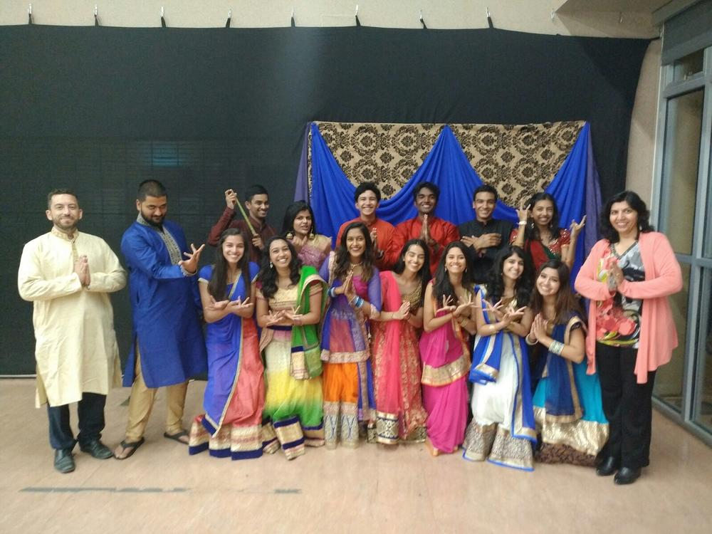 International Desi Connection Club Celebrates their 2017 Aasha Garba Social Gathering w  Ms. Mohan and Mr. Menendez