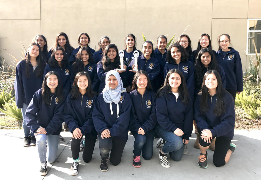EVHS s all-girls Athena Robotics team won the prestigious Inspire Award at the San Jose Qualifying Tournament on 12 3 17. They will advance to the FIRST Tech Challenge Northern California Regional Championship for their second consecutive year.