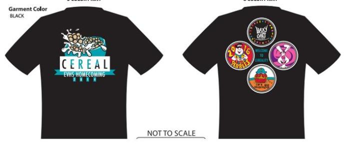 2014 Homecoming Shirts! $12 w/ ASB & $15 w/out